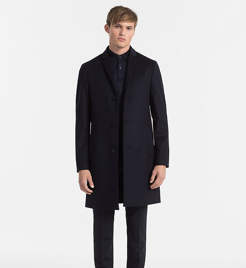 CALVINKLEIN Wool Cashmere Coat - PERFECT BLACK - CALVIN KLEIN MEN - main image