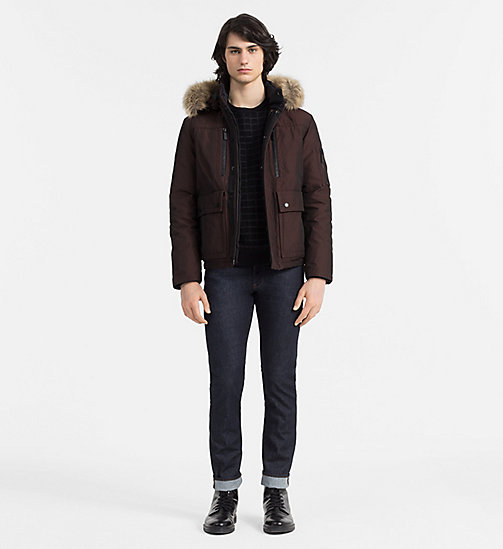 CALVINKLEIN Hooded Down Jacket - FIRED BRICK - CALVIN KLEIN CLOTHES - detail image 1