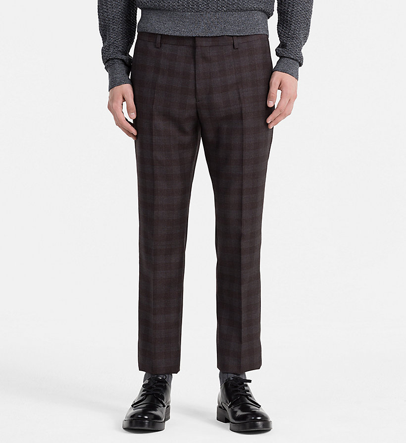 CALVINKLEIN Fitted Wool Check Suit - ASPHALT - CALVIN KLEIN SUITS - detail image 2