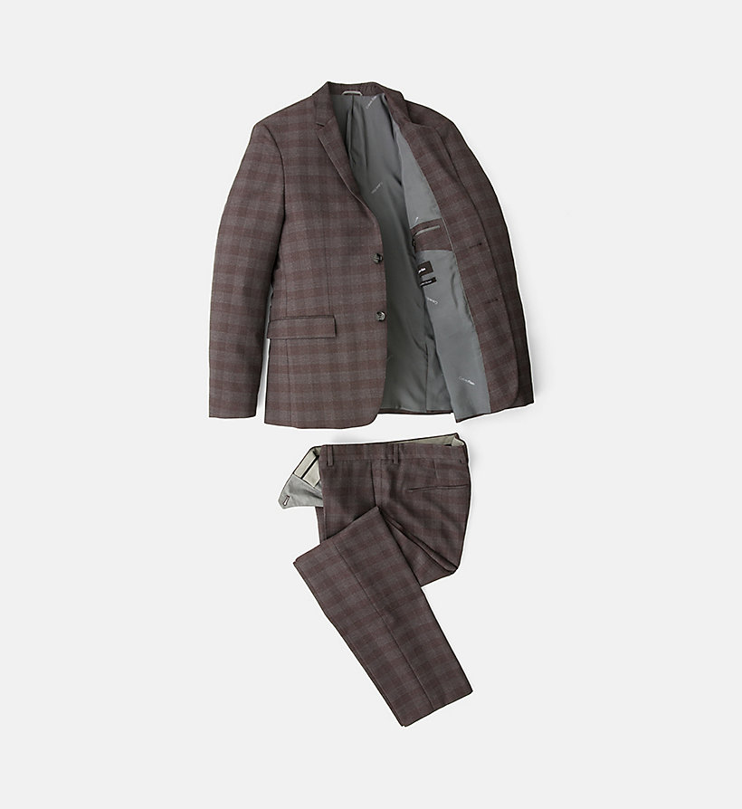 CALVINKLEIN Fitted Wool Check Suit - ASPHALT - CALVIN KLEIN SUITS - detail image 5