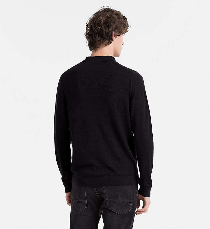 CALVINKLEIN Wool Silk Knit Polo - FIRED BRICK - CALVIN KLEIN JUMPERS - detail image 1