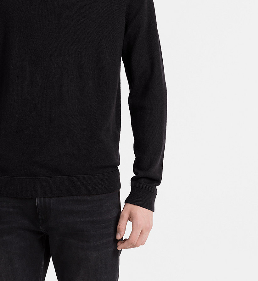 CALVINKLEIN Wool Silk Knit Polo - FIRED BRICK - CALVIN KLEIN JUMPERS - detail image 2