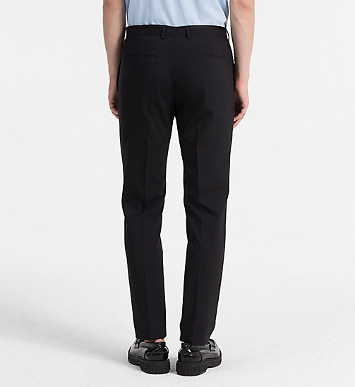 CALVINKLEIN Fitted Tuxedo Trousers - PERFECT BLACK - CALVIN KLEIN TROUSERS & SHORTS - detail image 1