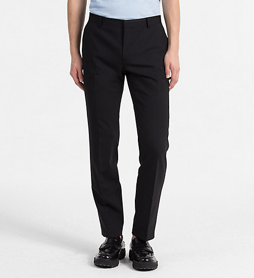 CALVINKLEIN Fitted Tuxedo Trousers - PERFECT BLACK - CALVIN KLEIN TROUSERS & SHORTS - main image