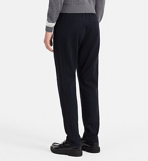 CALVINKLEIN Fitted Cotton Dobby Trousers - SKY CAPTAIN - CALVIN KLEIN TROUSERS & SHORTS - detail image 1