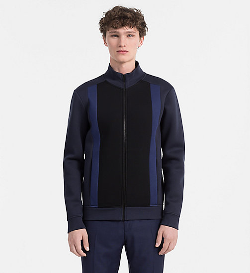 CALVINKLEIN Bonded Jersey Zip-Through Jacket - SKY CAPTAIN - CALVIN KLEIN MODERN MENSWEAR - main image