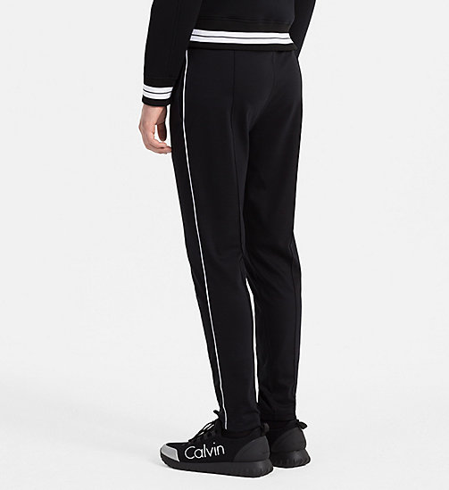 CALVINKLEIN Bonded Jersey Sweatpants - PERFECT BLACK - CALVIN KLEIN TROUSERS - detail image 1