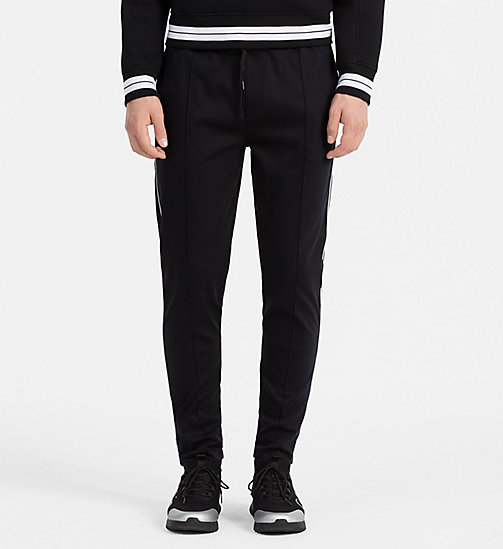 CALVINKLEIN Bonded Jersey Sweatpants - PERFECT BLACK - CALVIN KLEIN TROUSERS - main image