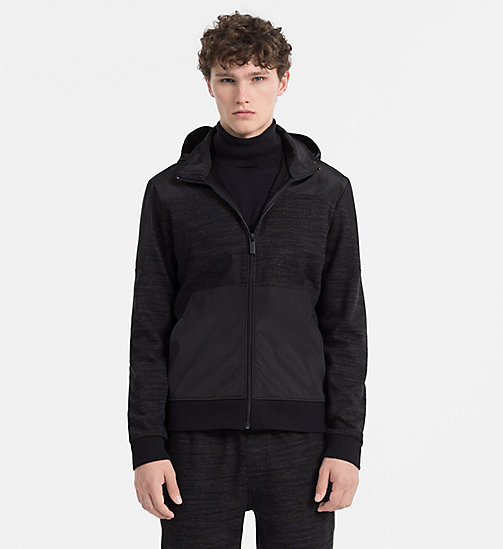 CALVINKLEIN Material Mix Zip-Through Jacket - PERFECT BLACK - CALVIN KLEIN COATS & JACKETS - main image