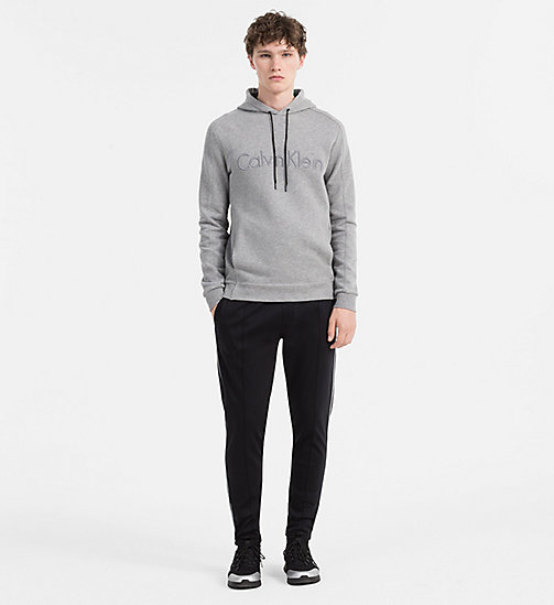 CALVINKLEIN Hooded Logo Sweatshirt - MID GREY HEATHER - CALVIN KLEIN SWEATSHIRTS - detail image 1