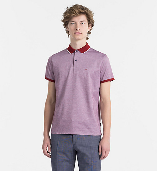 CALVINKLEIN Cotton Piqué Polo - RED DAHLIA -  NEW IN - main image