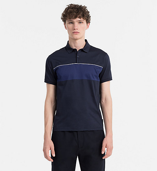 CALVINKLEIN Colour Block Polo - SKY CAPTAIN - CALVIN KLEIN POLO SHIRTS - main image