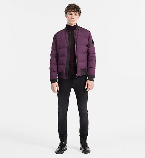 CALVINKLEIN Padded Bomber Jacket - BLACKBERRY WINE - CALVIN KLEIN CLOTHES - detail image 1
