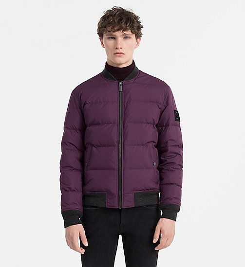 CALVINKLEIN Padded Bomber Jacket - BLACKBERRY WINE - CALVIN KLEIN CLOTHES - main image