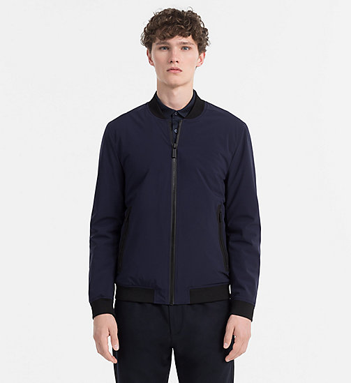 CALVINKLEIN Tech Nylon Bomber Jacket - PERFECT BLACK - CALVIN KLEIN MODERN MENSWEAR - main image
