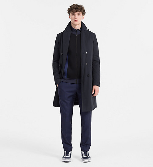 CALVINKLEIN Tech Poplin Coat - TRUE NAVY - CALVIN KLEIN COATS & JACKETS - detail image 1