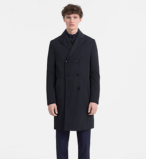 CALVINKLEIN Tech Poplin Coat - TRUE NAVY - CALVIN KLEIN COATS & JACKETS - main image