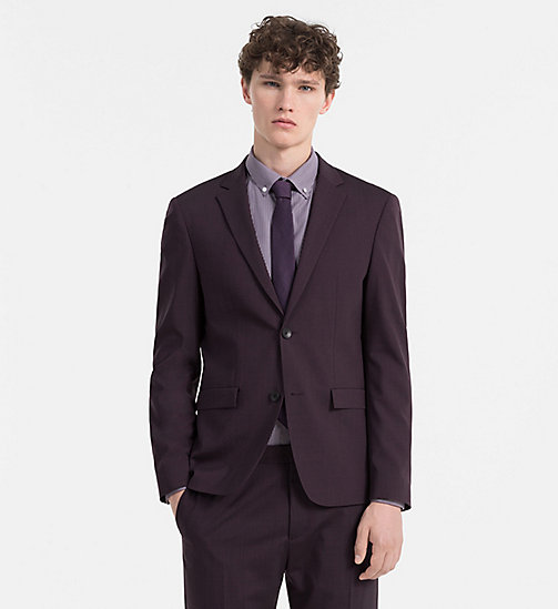 CALVINKLEIN Slim Wool Stretch Blazer - PLUM PERFECT - CALVIN KLEIN BLAZERS & SUITS - main image