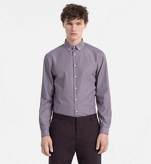 CALVINKLEIN Fitted Pinstripe Shirt - PLUM PERFECT - CALVIN KLEIN FITTED - main image