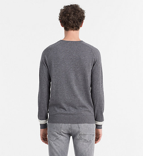 CALVINKLEIN Sweater aus Woll-Baumwoll-Mix - QUIET SHADE HEATHER - CALVIN KLEIN PULLOVER & STRICKJACKEN - main image 1