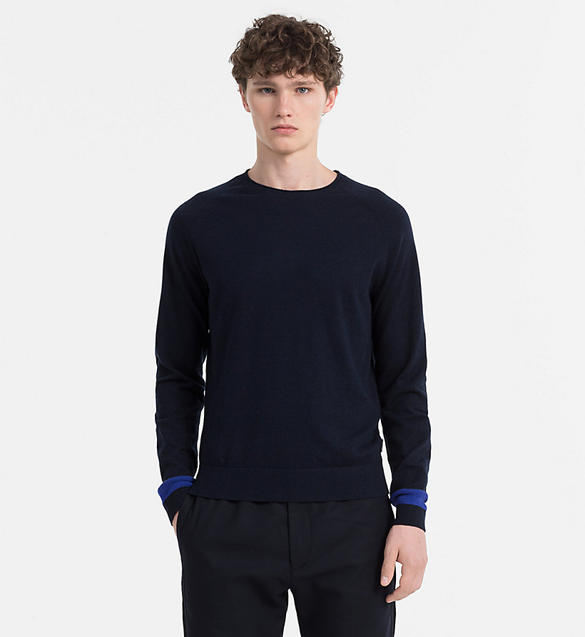 CALVINKLEIN Wool Cotton Jumper - QUIET SHADE HEATHER - CALVIN KLEIN MEN - main image