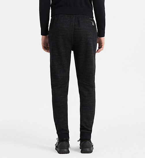 CALVINKLEIN Melange Jersey Jogging Pants - PERFECT BLACK - CALVIN KLEIN TROUSERS & SHORTS - detail image 1