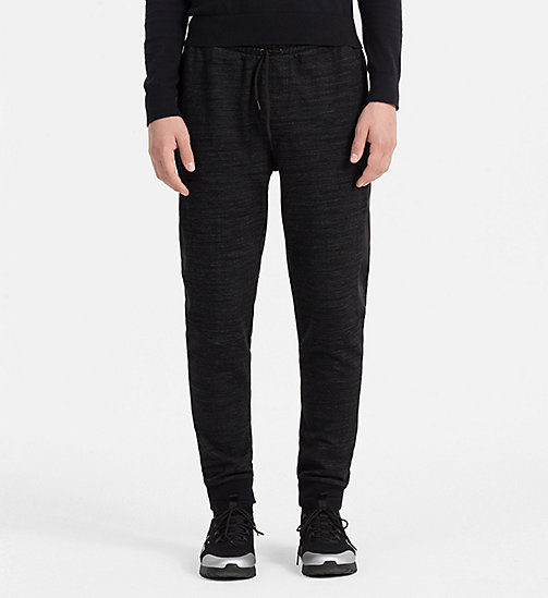 CALVINKLEIN Melange Jersey Sweatpants - PERFECT BLACK - CALVIN KLEIN TROUSERS - main image