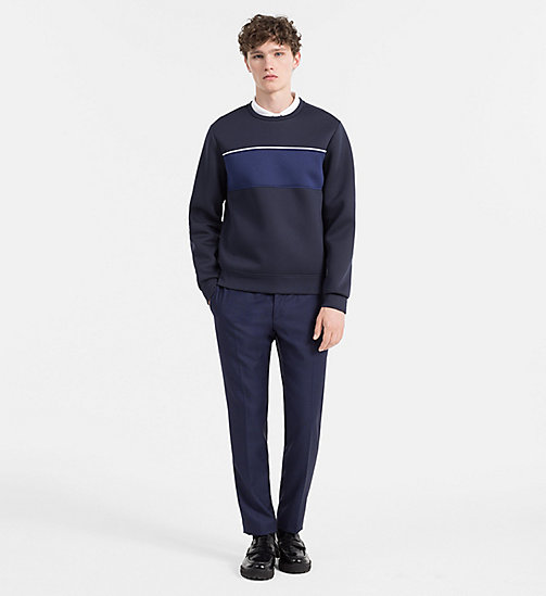 CALVINKLEIN Geperst colourblock sweatshirt - SKY CAPTAIN - CALVIN KLEIN SWEATSHIRTS - detail image 1