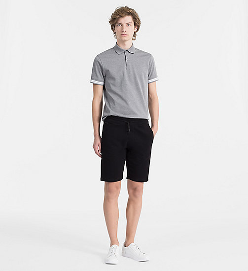 CALVINKLEIN Mesh Jersey Polo - MEDIUM GREY HTR - CALVIN KLEIN CLOTHES - detail image 1