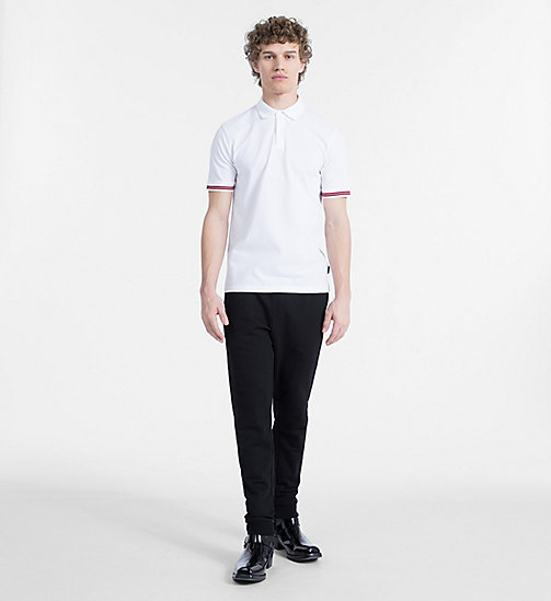 CALVINKLEIN Mesh Jersey Polo - PERFECT WHITE - CALVIN KLEIN CLOTHES - detail image 1