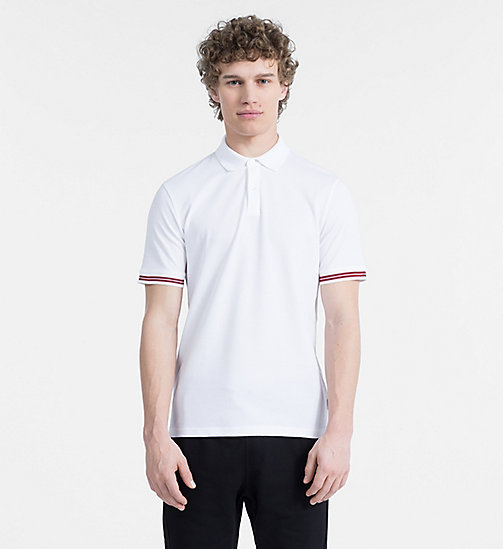 CALVINKLEIN Mesh Jersey Polo - PERFECT WHITE - CALVIN KLEIN CLOTHES - main image