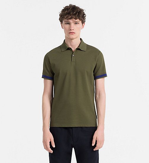 CALVINKLEIN Mesh Jersey Polo - OLIVE NIGHT - CALVIN KLEIN CLOTHES - main image