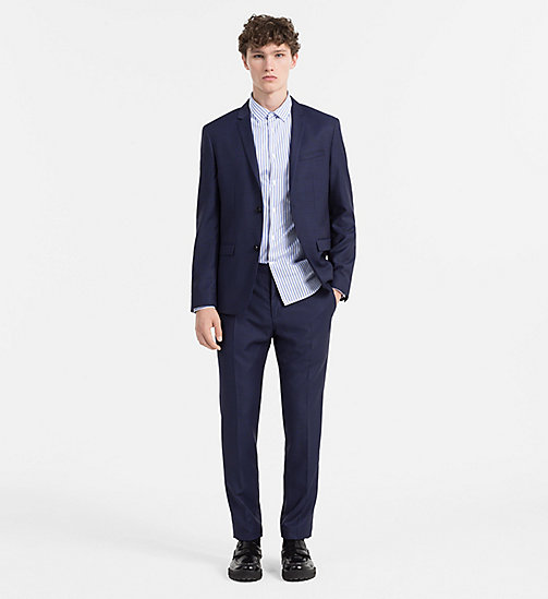 CALVINKLEIN Slim Virgin Wool Blazer - MEDIEVAL BLUE -  BLAZERS & SUITS - detail image 1