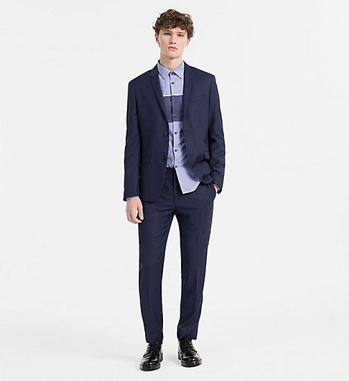CALVINKLEIN Slim Oxford Cotton Shirt - SODALITE BLUE - CALVIN KLEIN SHIRTS - detail image 1