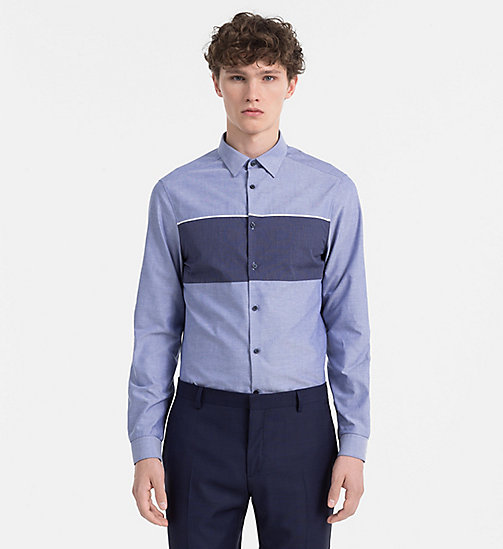 CALVINKLEIN Slim Oxford Cotton Shirt - SODALITE BLUE - CALVIN KLEIN SHIRTS - main image