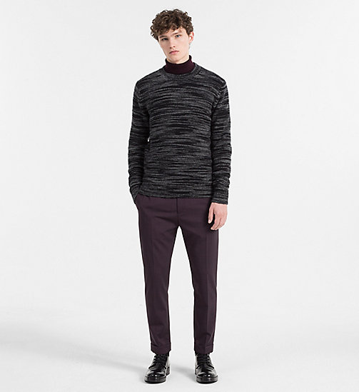 CALVINKLEIN Melierter Sweater aus Mohair-Wolle - PERFECT BLACK - CALVIN KLEIN CLOTHES - main image 1
