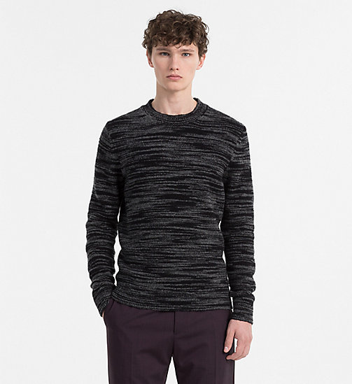 CALVINKLEIN Heathered Wool Mohair Jumper - PERFECT BLACK - CALVIN KLEIN KNITWEAR - main image