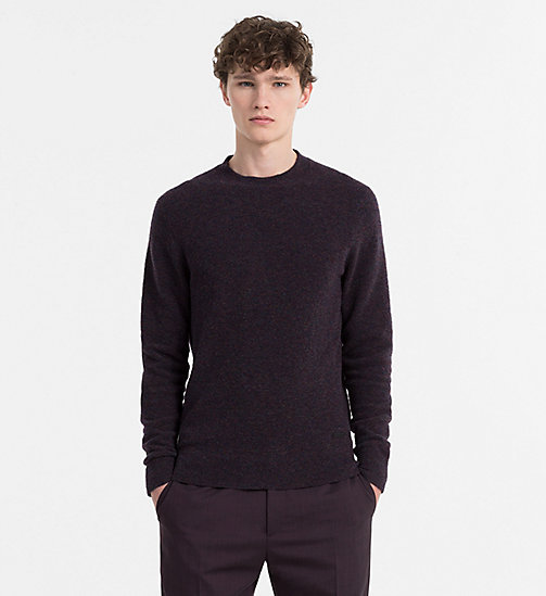 CALVINKLEIN Merino Wool Jumper - BLACKBERRY WINE HEATHER - CALVIN KLEIN KNITWEAR - main image