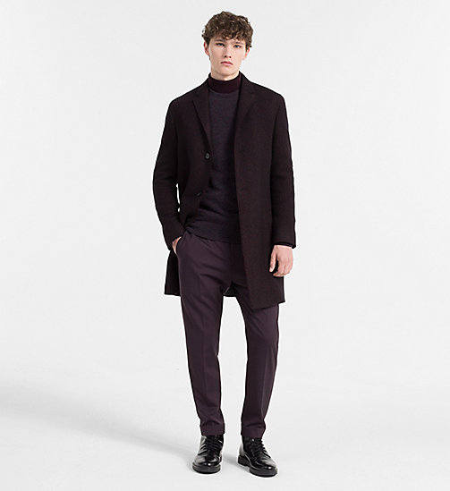 CALVINKLEIN Two-Tone Wool Coat - PLUM PERFECT - CALVIN KLEIN CLOTHES - detail image 1
