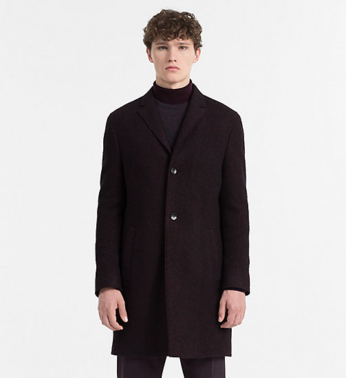 CALVINKLEIN Two-Tone Wool Coat - PLUM PERFECT - CALVIN KLEIN CLOTHES - main image