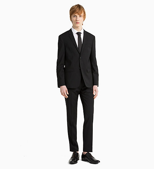 CALVINKLEIN Virgin Wool Stretch Suit - PERFECT BLACK -  CLOTHES - detail image 1