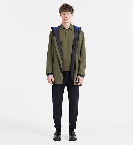 CALVINKLEIN Parkamantel aus Tech-Nylon - OLIVE NIGHT - CALVIN KLEIN CLOTHES - main image 1