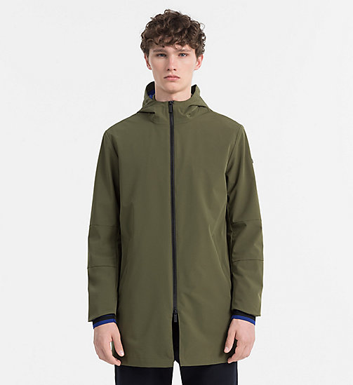 CALVINKLEIN Tech Nylon Parka Coat - OLIVE NIGHT - CALVIN KLEIN CLOTHES - main image