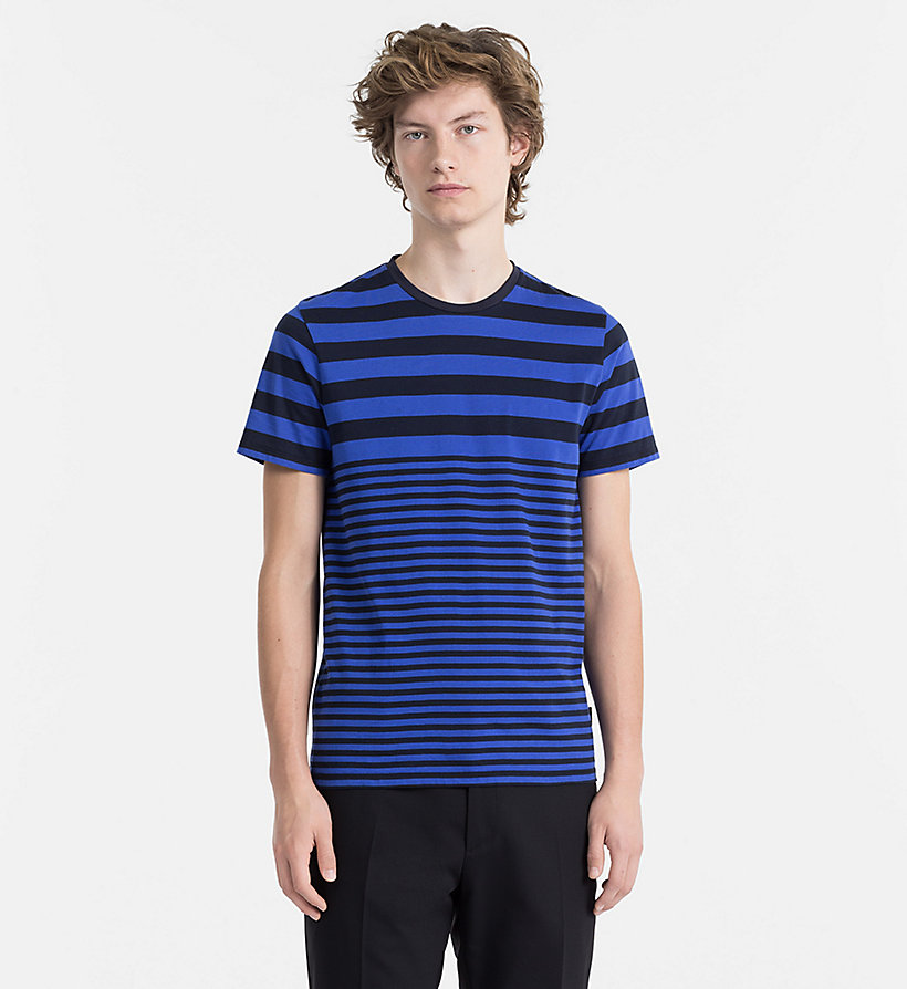 CALVINKLEIN Irregular Stripe T-shirt - GUN METAL - CALVIN KLEIN MEN - main image