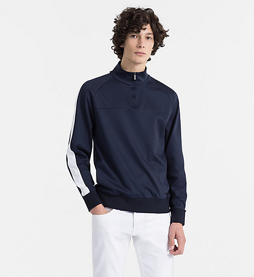 CALVINKLEIN Bonded Jersey Jumper - SKY CAPTAIN - CALVIN KLEIN BACK IN BUSINESS - main image