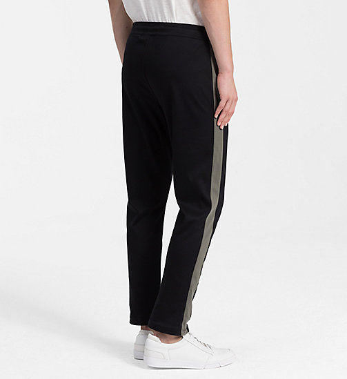 CALVINKLEIN Bonded Jersey Jogging Pants - PERFECT BLACK - CALVIN KLEIN CLOTHES - detail image 1