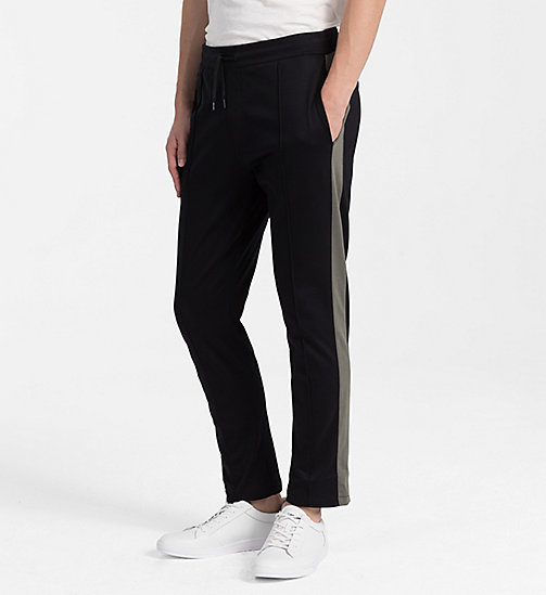 CALVINKLEIN Bonded Jersey Jogging Pants - PERFECT BLACK - CALVIN KLEIN BACK IN BUSINESS - main image
