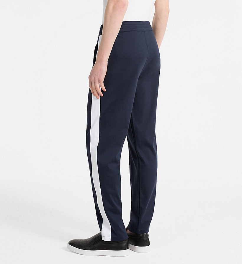 CALVINKLEIN Bonded Jersey Jogging Pants - PERFECT BLACK - CALVIN KLEIN MEN - detail image 1