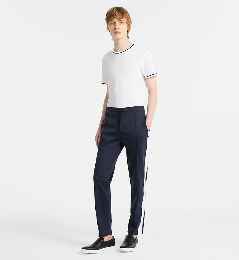 CALVINKLEIN Bonded Jersey Jogging Pants - PERFECT BLACK - CALVIN KLEIN MEN - detail image 3
