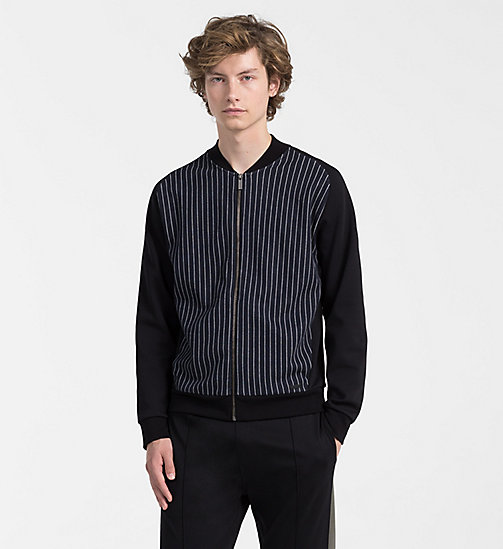 CALVINKLEIN Pinstripe Jacquard Jacket - PERFECT BLACK - CALVIN KLEIN NEW IN - main image